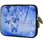 Amzer 10.5 Inch Designer Tablet Sleeve Shock Absorbing Case Weather Resistant Neoprene Cover - Blue Sparkling Butterfly