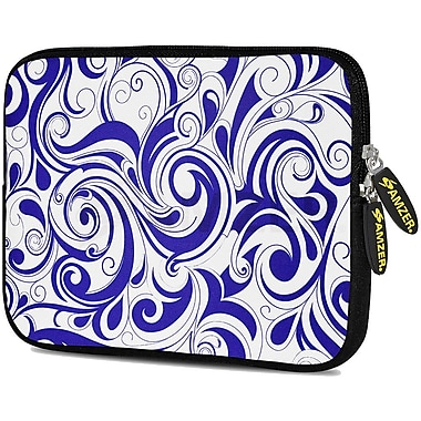 Amzer 10.5 Inch Designer Tablet Sleeve Shock Absorbing Case Weather Resistant Neoprene Cover - Blue Elegance