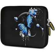Amzer 10.5 Inch Designer Tablet Sleeve Shock Absorbing Case Weather Resistant Neoprene Cover - Blue Butterfly