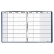 House Of Doolittle Teachers Planner, Embossed Simulated Leather Cover - Blue (AZTY06979)