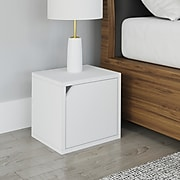 """Way Basics 12.6""""H x 13.4""""W Modular Connect Eco Storage Cube with Door, White (C-DCUBE-WE)"""