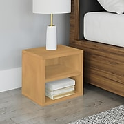 """Way Basics 12.6""""H x 13.4""""W Modular Connect Cube with Shelf Eco Storage System, Natural Wood Grain (C-SCUBE-NL)"""