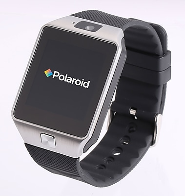 Polaroid Smart Watch Exercise Tracker Silver and Black (SW1502S/BLK)