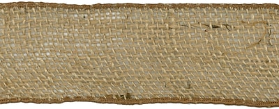 Wired Burlap Ribbon 2-1/2