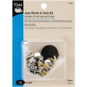 "Jean Rivets & Tools 5/16"" 24/Pkg-Nickel"