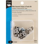 "Mini Anorak Snaps & Tools 5/32"" 10/Pkg-Nickel"