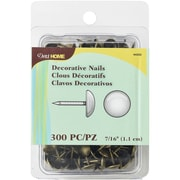 "Dritz Upholstery Decorative Nails 7/16"" 300/Pkg-Antique Brass Smooth Nailhead"