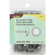 "Dritz Upholstery Decorative Nails 7/16"" 300/Pkg-Brushed Silver Smooth Nailhead"
