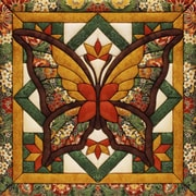 "Fall Butterfly Quilt Magic Kit-12""X12"""