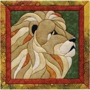 """Lion Quilt Magic Kit-12""""X12"""""""