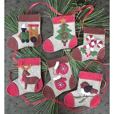 Warm Feet Ornament Kit 6/Pkg-4