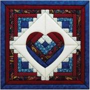 "Log Cabin Heart Quilt Magic Kit-15.5""X15.5"""