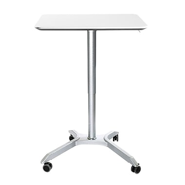 Seville Classics AIRLIFT XL Sit-Stand Mobile Desk, White (OFF65801)