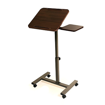 Seville Classics Sit-Stand Desk Cart with Side Table (WEB234)
