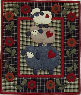 Wooly Sheep Wall Quilt Kit-13