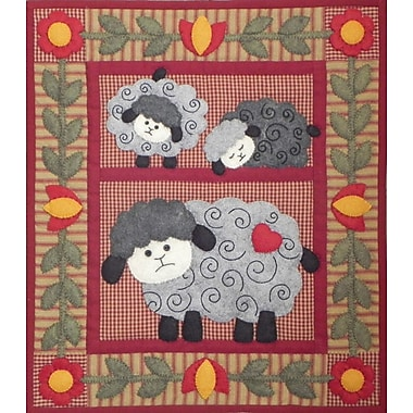 Twin Lambs Wall Quilt Kit-13