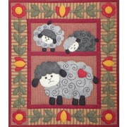 "Twin Lambs Wall Quilt Kit-13""X15"""