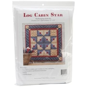 "Log Cabin Star Wall Quilt Kit-22""X22"""