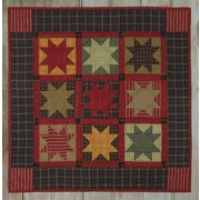 "Homespun Stars Wall Quilt Kit-22""X22"""