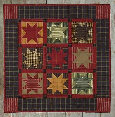 Homespun Stars Wall Quilt Kit-22