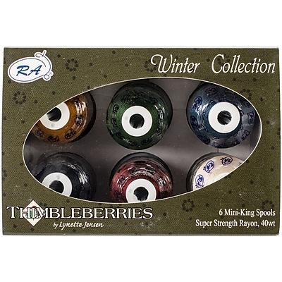 Thimbleberries Rayon Thread Collection 1,100yd 6/Pkg-Winter