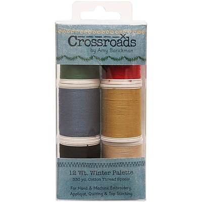 Crossroads Sulky Blendables 12wt 6/Pkg-Winter Collection
