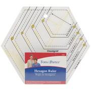 "Fons & Porter Hexagon Ruler-2"" To 6"" & 1"" To 3"""