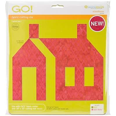 GO! Fabric Cutting Dies-Schoolhouse
