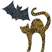 "GO! Fabric Cutting Dies-Cat 5-1/8""X7-3/8"" & Bat 5-1/8""X3"""