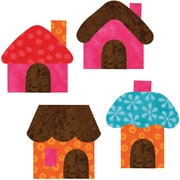 """GO! This & That Fabric Cutting Dies-Small Houses 2-1/2""""X3""""By Reiko Kato"""