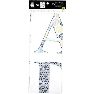 Alphabet Uppercase Iron-On Fabric Letters & Symbols-Cool