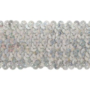 "Stretch Sequins 2""X8yd-Silver Holographic"