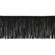 "Chainette Fringe 4""X20yd-Black"