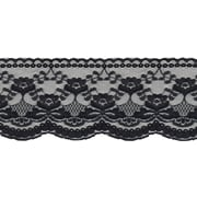 "Flat Pretty Lace 4""X12yd-Black"