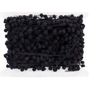 """Pom Fringe 3/4""""X20yd-Black"""