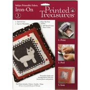 """Printed Treasures Iron-On Ink Jet Fabric Sheets 8.5""""X11"""" 3/P-White"""