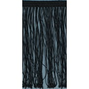 "Fringe Trim 4""X10yd-Black"