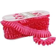 "Ruffled Grosgrain 1-3/4""X8yd-Hot Pink"