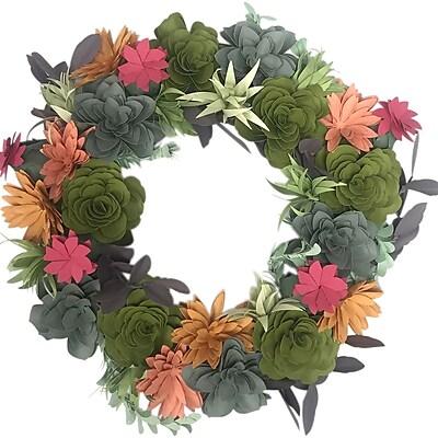 Sizzix DIY Kit By Katelyn Lizardi-Succulent Wreath