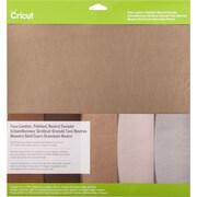 """Cricut Pebbled Faux Leather Sampler 12""""X12"""" 5/Pkg-Neutral"""