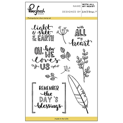 Pinkfresh Studio Clear Stamp Set 4