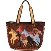 "Shoulder Tote Zipper Top 23.5""X5.5""X15.25""-Native Horses"
