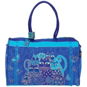 "Travel Bag 21""X9""X14""-Indigo Cats"