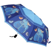 "Laurel Burch Compact Umbrella 42"" Canopy Auto Open/Close-Indigo Cats"