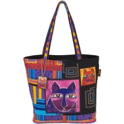 """Shoulder Tote 16""""X5""""X14""""-Whiskered Cats"""