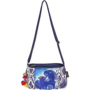 "Small Crossbody 9""X6.25""-Indigo Mares"