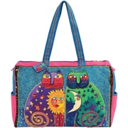 "Travel Bag Zipper Top 21""X8""X15""-Celestial Felines"