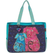 """Oversized Tote 20""""X6""""X15.5""""-Blossoming Pups"""
