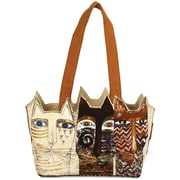 "Medium Tote Zipper Top 14.5""X4""X8""-Ancestral Cats"