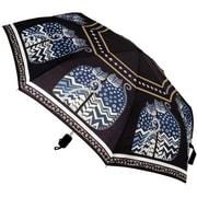 """Laurel Burch Compact Umbrella 42"""" Canopy Auto Open/Close-Polka Dot Cats"""